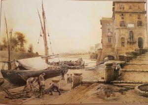 Ettore Roesler Franz, Porto di Ripetta, 1888