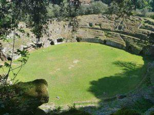 L'anfiteatro romano di Sutri, vista dall'alto