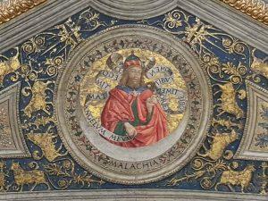 Pinturicchio Sala dei Misteri - dettaglio del soffitto, Appartamento Borgia